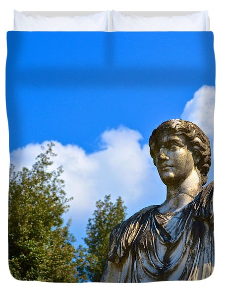 Caesar On Blue Sky Duvet Cover