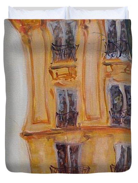 Cafe Bar La Cappuccino, 2010 Oil On Canvas Duvet Cover