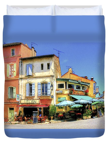 Cafe Corner Duvet Cover by Douglas J Fisher