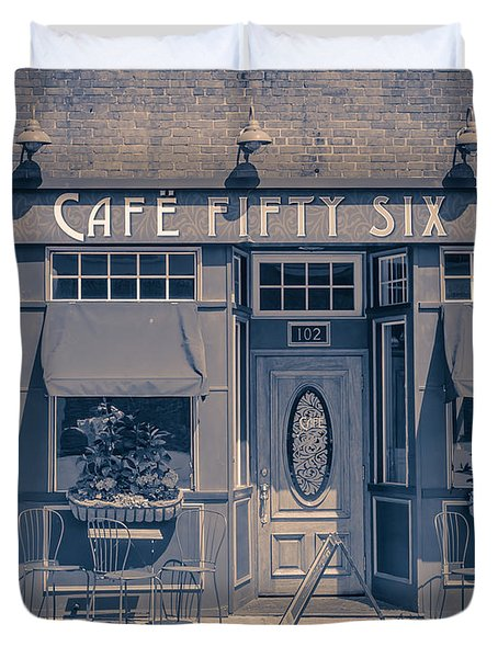 Cafe Fifty Six Middletown Connecticut Duvet Cover