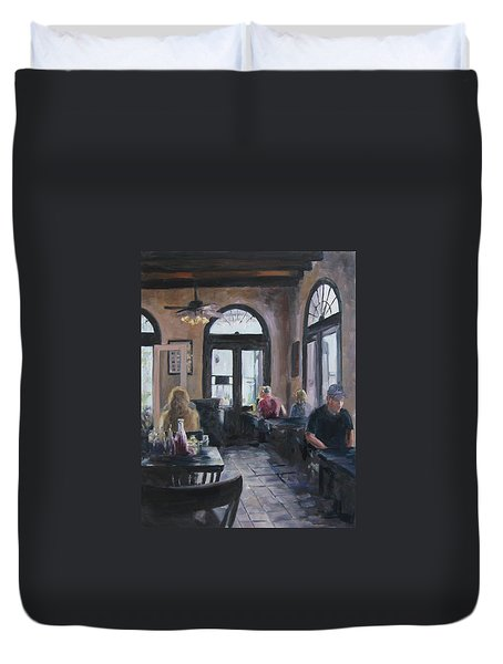 Cafe Maspero Duvet Cover