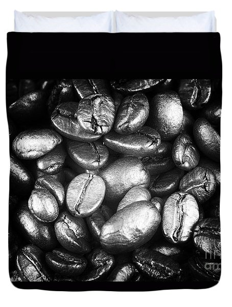 Duvet Cover featuring the photograph Cafe Noir by John Rizzuto