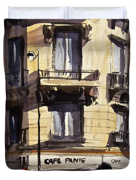 Cafe Panis Duvet Cover