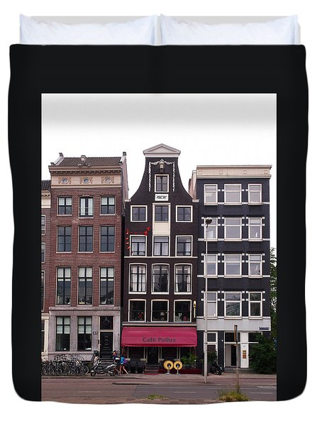 Cafe Pollux Amsterdam Duvet Cover