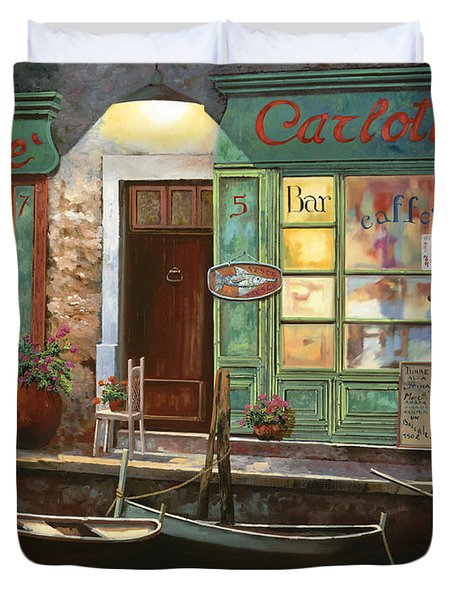 caffe Carlotta Duvet Cover by Guido Borelli