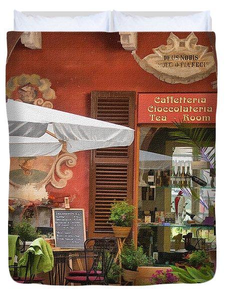 Caffeteria Orta San Guilio Duvet Cover
