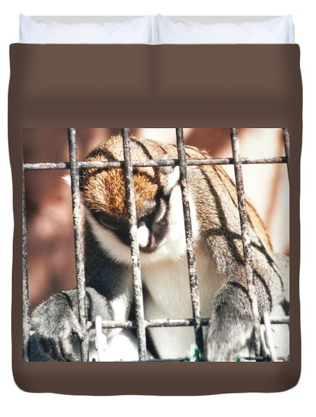 Caged But Strong Duvet Cover by Belinda Lee