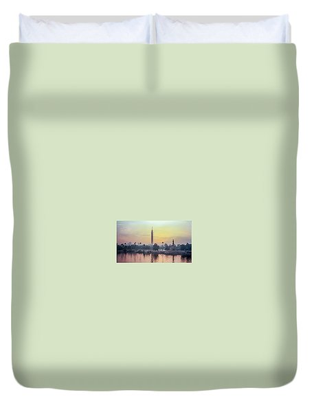 Cairo And The Nile Duvet Cover