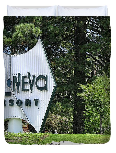 Cal Neva Resort - Lake Tahoe Duvet Cover