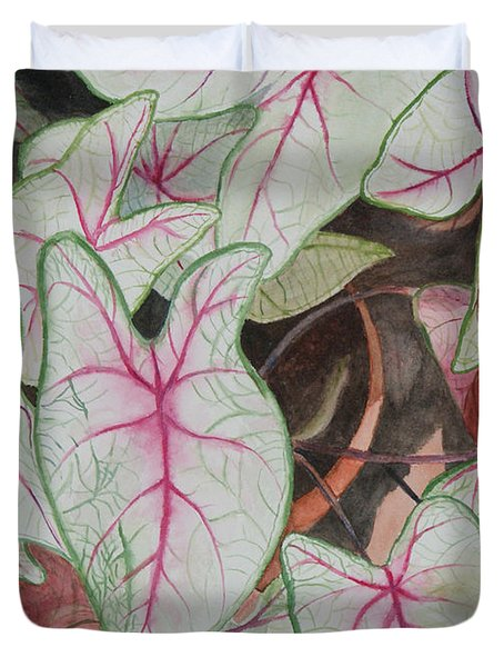 Caladiums Duvet Cover