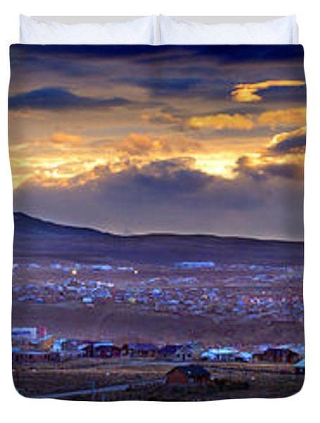 Calafate Panoramic Duvet Cover