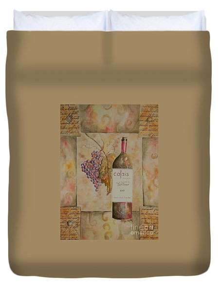 Calais Vineyard Duvet Cover by Tamyra Crossley