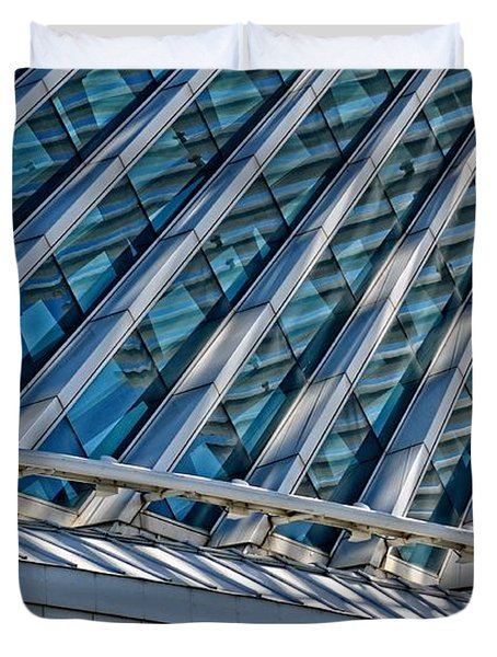 Calatrava In The Morning Duvet Cover by Mary Machare