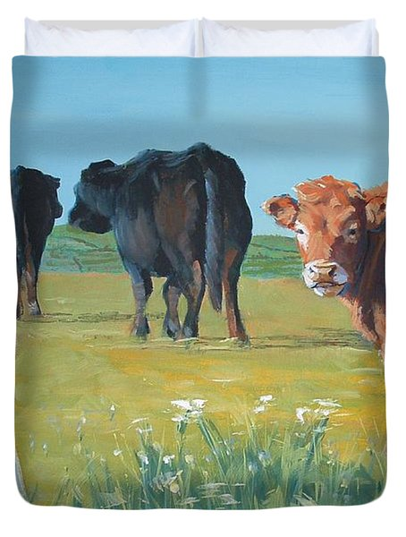 Calf Painting Duvet Cover
