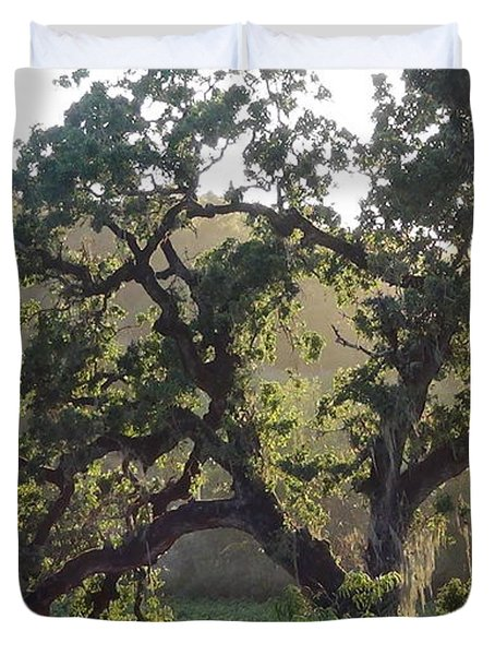 Duvet Cover featuring the photograph Cali Setting by Shawn Marlow