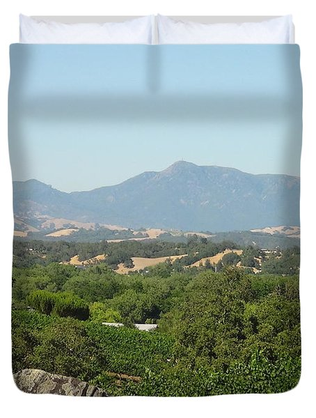 Duvet Cover featuring the photograph Cali View by Shawn Marlow