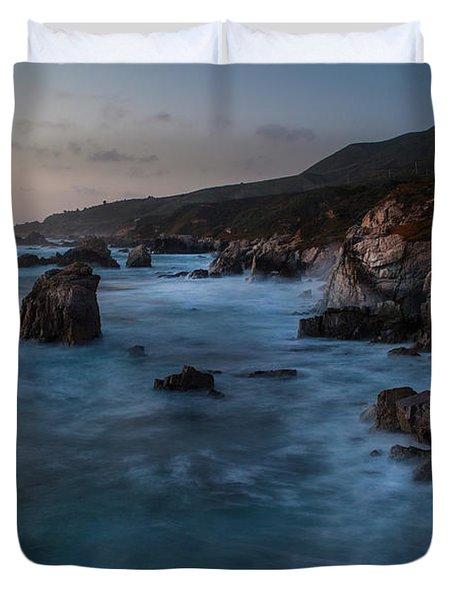 California Coast Dusk Duvet Cover