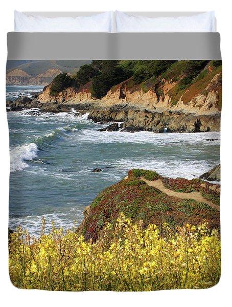 California Coast Overlook Duvet Cover by Carol Groenen