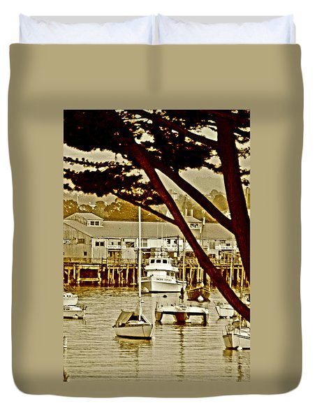 California Coastal Harbor Duvet Cover
