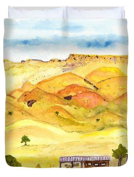 California Foothill Homestead Duvet Cover