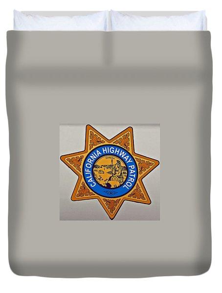 California Highway Patrol Duvet Cover