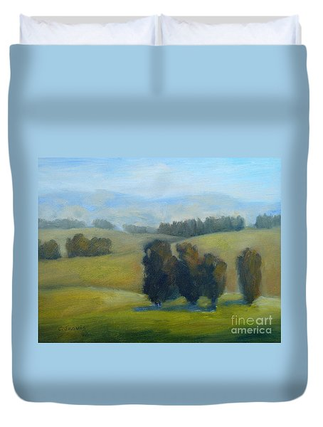 California Hills Late February Duvet Cover