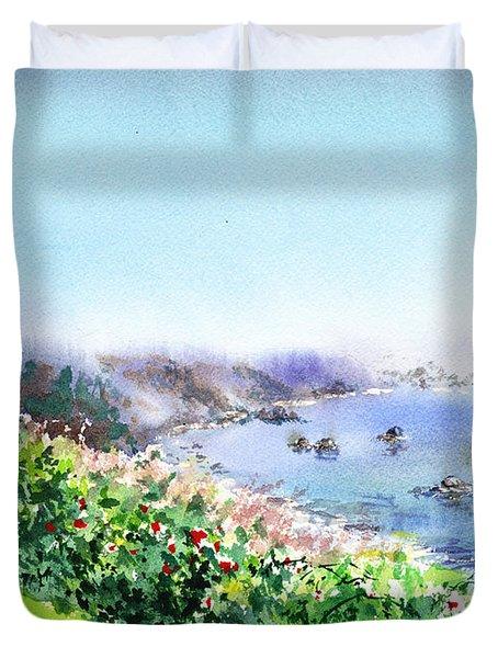 Lighthouse Trinidad California Duvet Cover