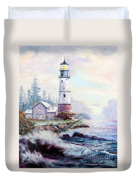California Lighthouse Duvet Cover by Lee Piper