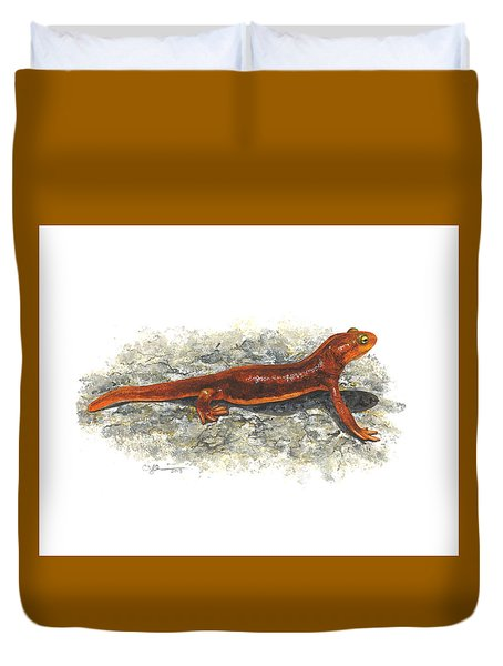 California Newt Duvet Cover by Cindy Hitchcock