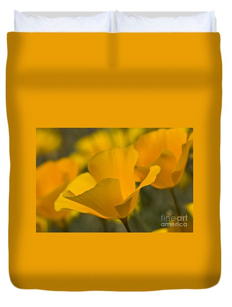 California Poppies Duvet Cover by Bryan Keil