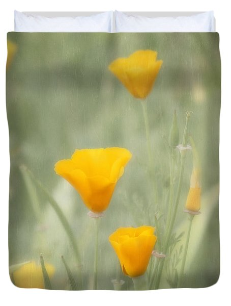 California Poppies Duvet Cover by Kim Hojnacki