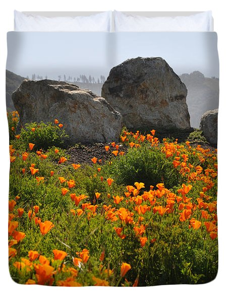 Duvet Cover featuring the photograph California Poppies by Lynn Bauer