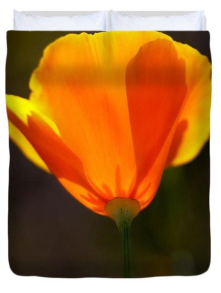 California Poppy 2 Duvet Cover by Robert Woodward