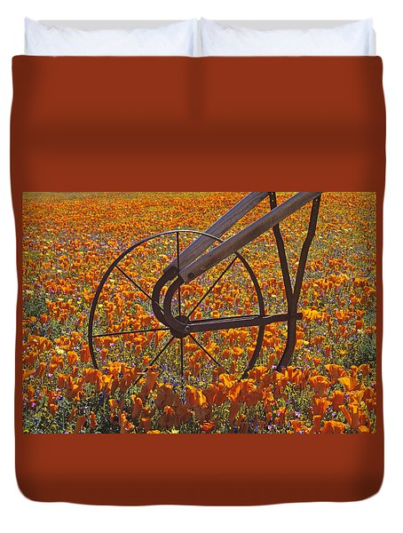 California Poppy Field Duvet Cover