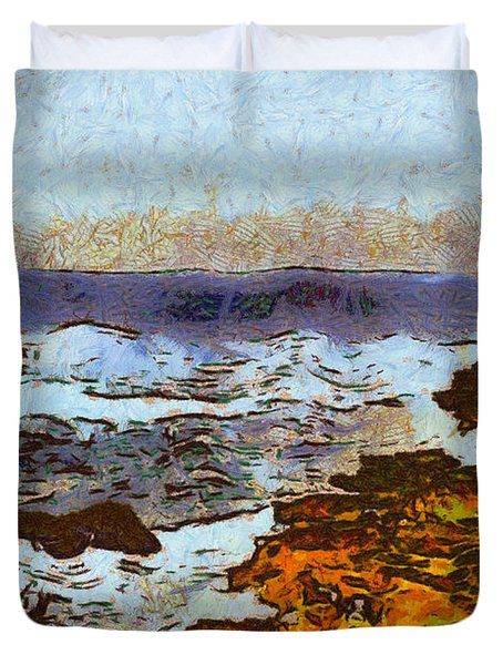 California Seascape Duvet Cover by Barbara Snyder