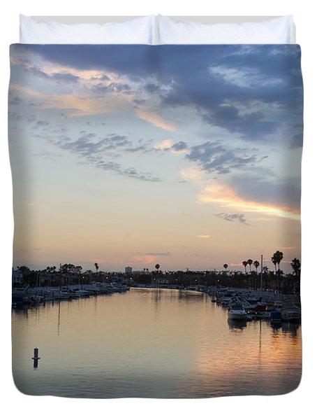 California Sunset Duvet Cover by Heidi Smith