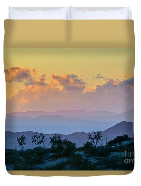 Duvet Cover featuring the photograph California Sunset by Martin Konopacki