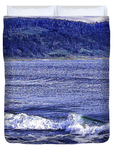 California Surf-2 Duvet Cover by Nancy Marie Ricketts