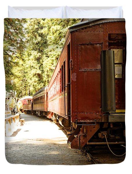 California Western Railroad Duvet Cover