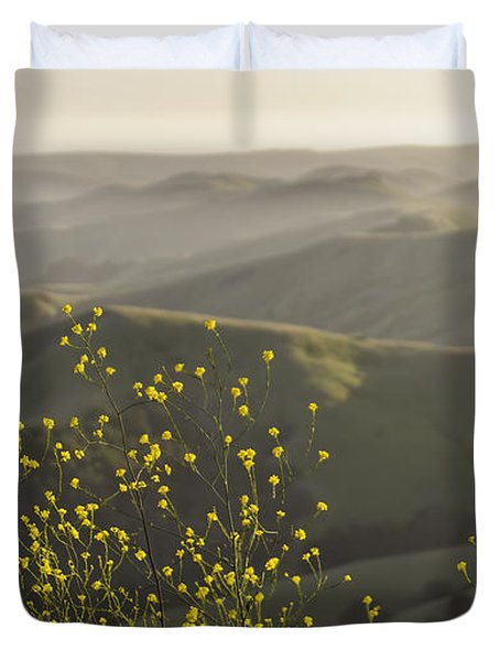 Duvet Cover featuring the photograph California Wildflowers by Steven Sparks