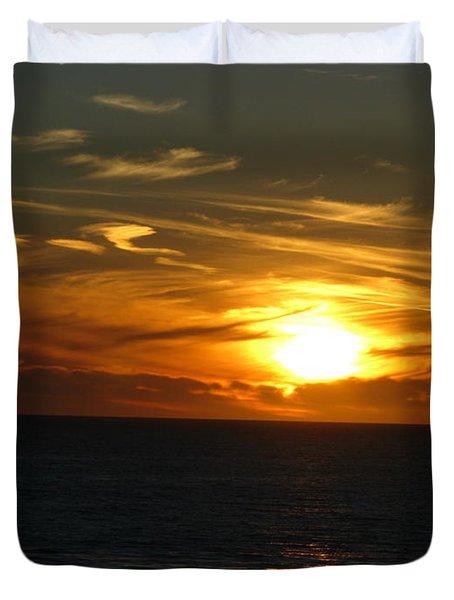 California Winter Sunset Duvet Cover