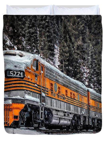 California Zephyr Duvet Cover by Ken Smith
