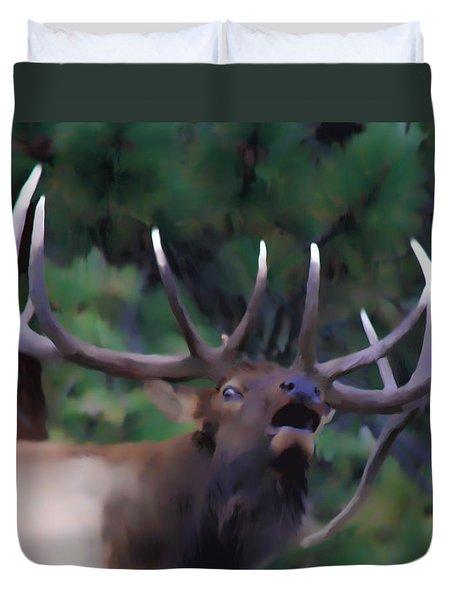 Call Of The Wild Duvet Cover by Shane Bechler