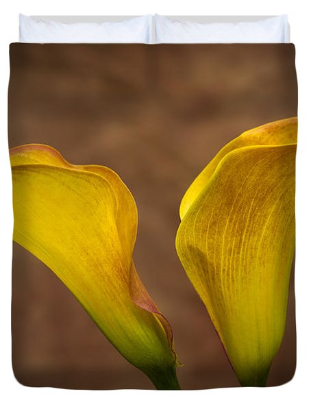 Duvet Cover featuring the photograph Calla Lilies by Sebastian Musial