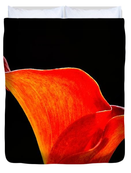 Calla Lily High Contrast Duvet Cover by Scott Lyons