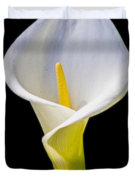 Duvet Cover featuring the photograph Calla Lily by Kate Brown