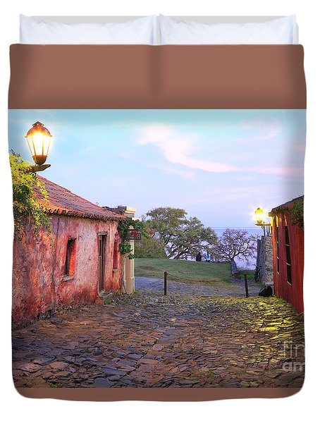 Duvet Cover featuring the photograph Calle De Los Suspiros by Bernardo Galmarini