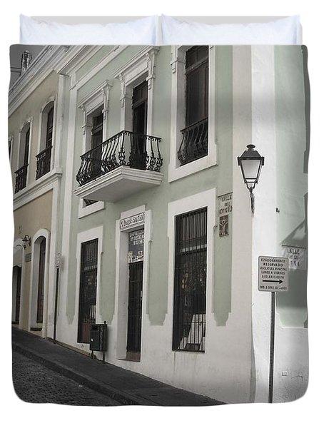 Calle De Luna Y Calle Del Cristo Duvet Cover by Daniel Sheldon