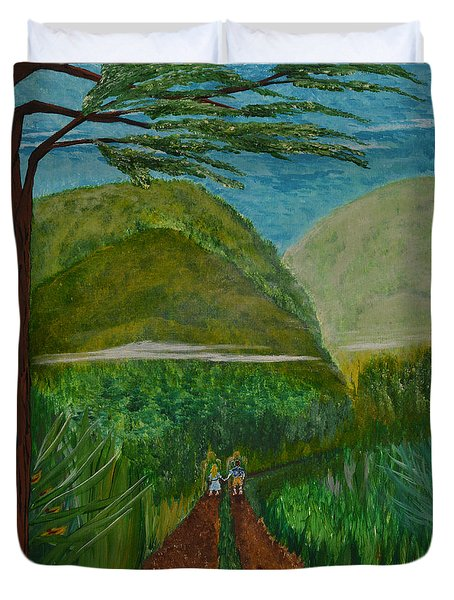 Called To The Mission Field Duvet Cover by Cassie Sears