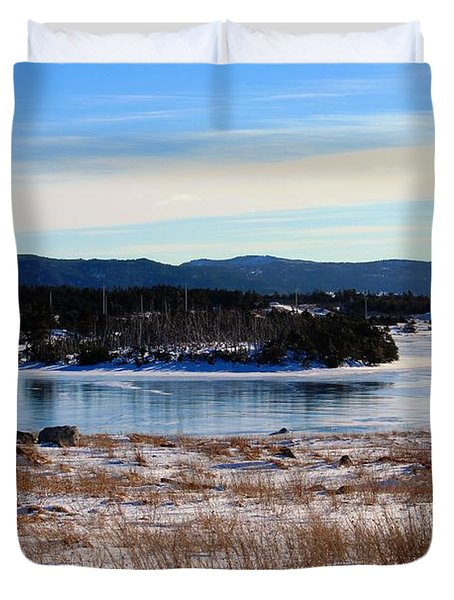Calling All Skaters Duvet Cover by Barbara Griffin